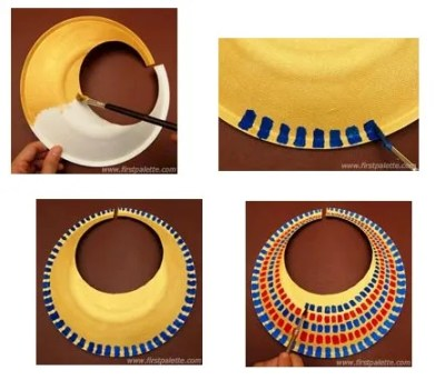 Image of Paper Plate Egyptian Collar