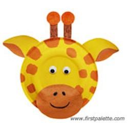Image of Paper Plate Giraffe