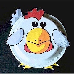 Image of Paper Plate Rooster