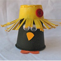 Paper Cup Crow