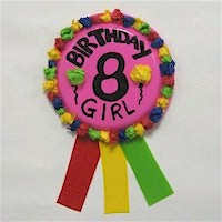Image of Paper Plate Birthday Ribbon