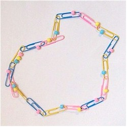 Image of Paper Clip Necklace
