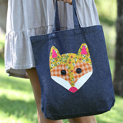 No Sew Patchwork Fox Tote