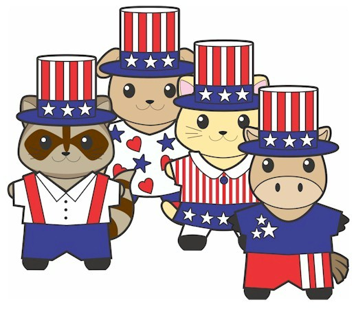 Image of Printable Patriotic Buddies Paper Dolls