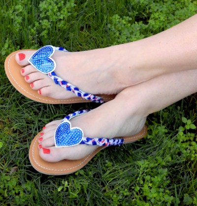Image of Patriotic Flip Flops