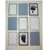 Image of Paw Print Memory Game
