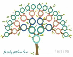 Image of Printable Peacock Family Tree