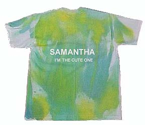 Personalized Tie Dye Tee Shirt