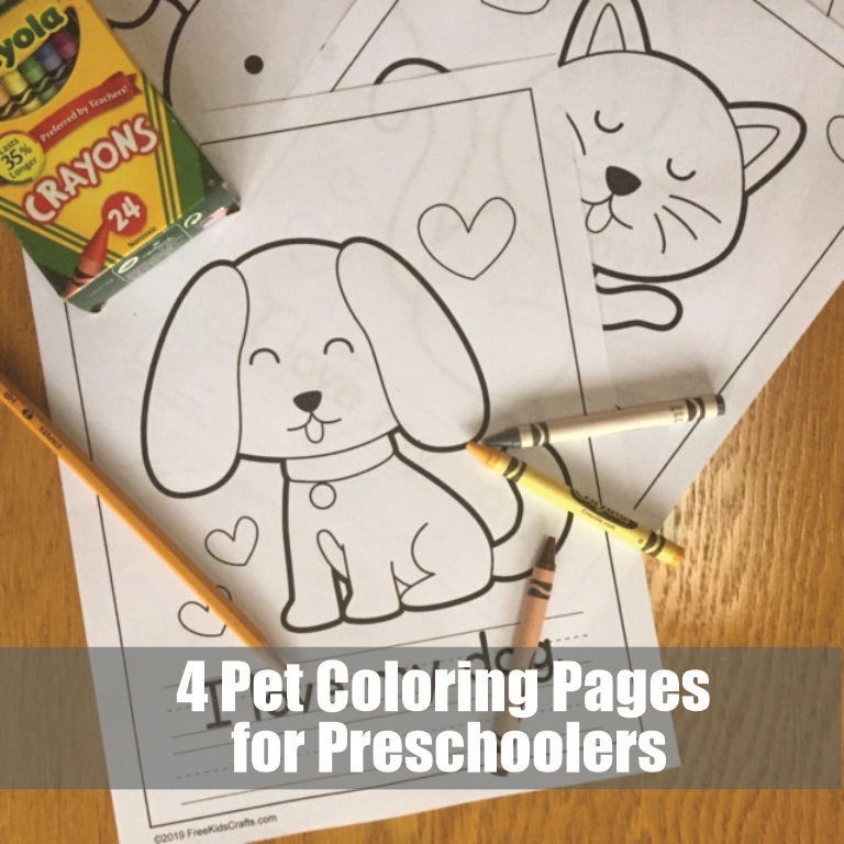Image of 4 Pet Coloring Pages