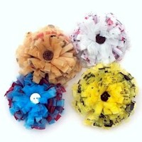 Plastic Bag Hair Rosettes