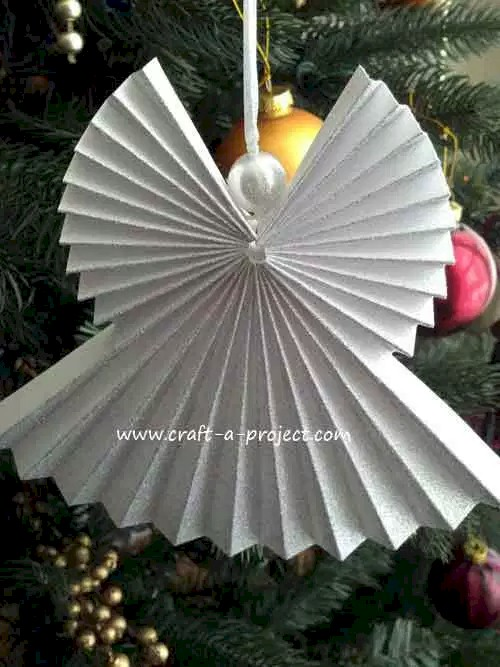 Pleated Paper Angel Ornament