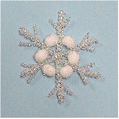 Pom Pom and Pipe Cleaner Snowflake for kids to make