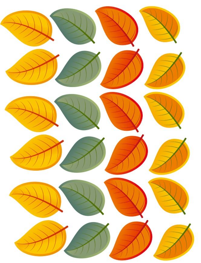 printable leaves color Free Kids Crafts