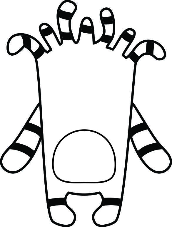 image about Build a Monster Printable called Monster Printables
