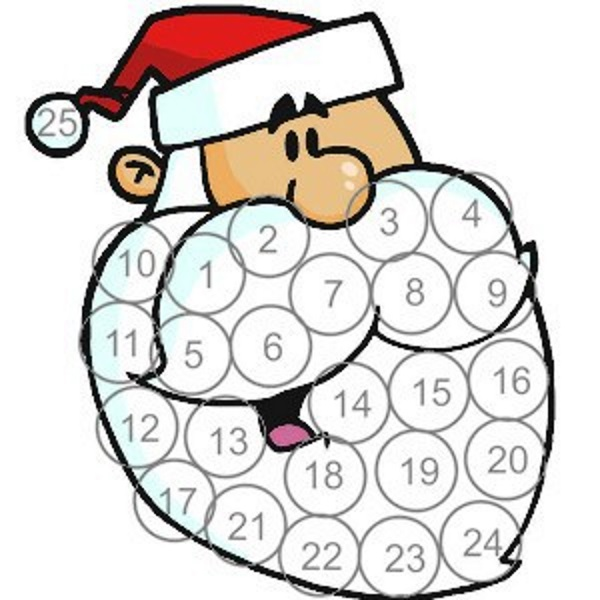Printable Santa Advent Calendar