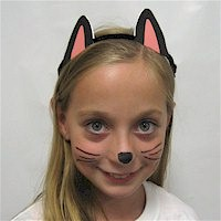 photo about Printable Cat Ears known as Printable Black Cat Ears