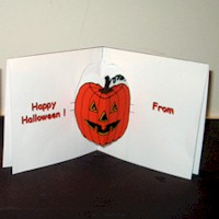 Image of Pumpkin  Pop Up Card