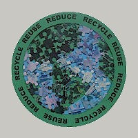 Image of Recycled Puzzle Piece Earth