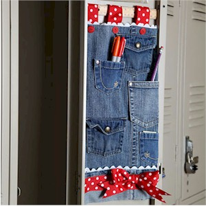 Image of Recycled Jeans Locker Organizer