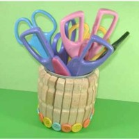 Recycled Scissors Holder