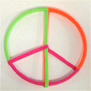Repurposed Shoelace Peace Sign