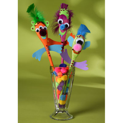 Image of Silly Puppet Spoons