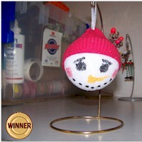 Styrofoam Snowball Ornament
