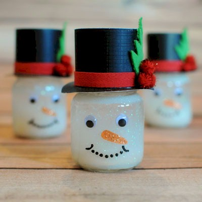 Image of Snowman Snow Globes
