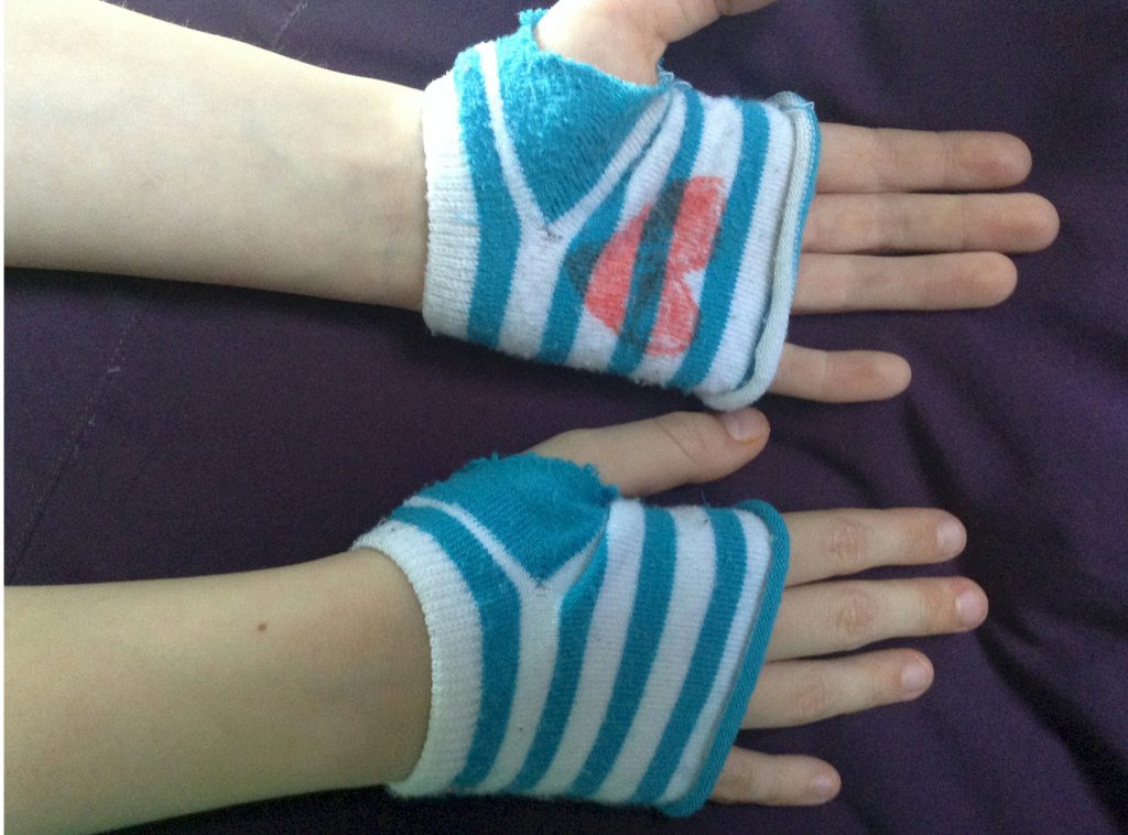 Image of Recycled Sock Gloves