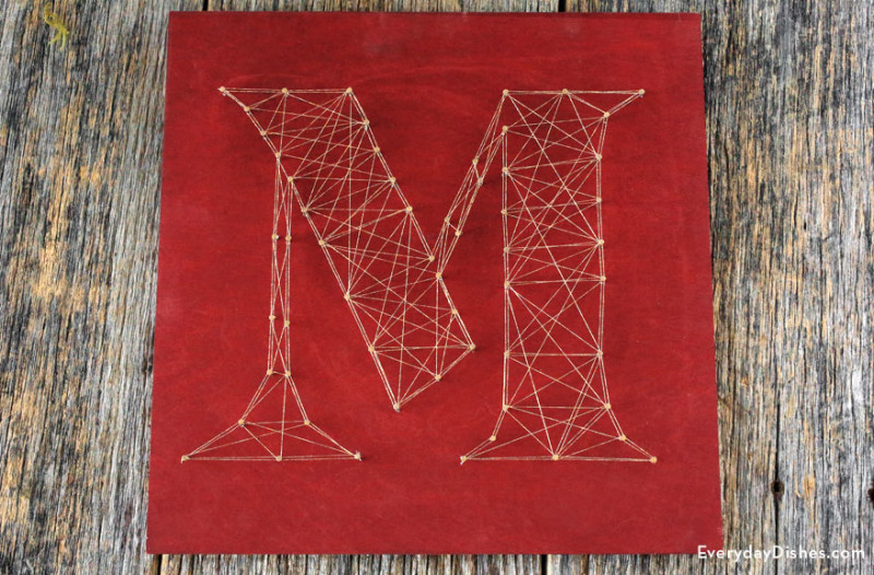 Image of Decorative String Art Letters