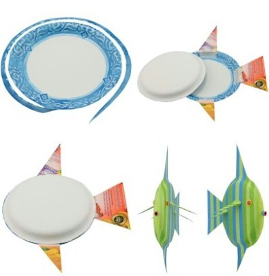 Striped Paper Plate Fish