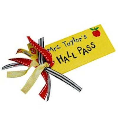 Image of Teachers Hall Pass
