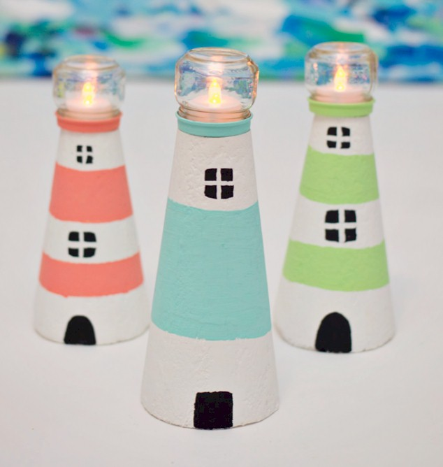 Tealight Lighthouses