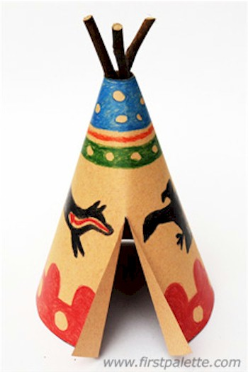 Thanksgiving Teepee Craft