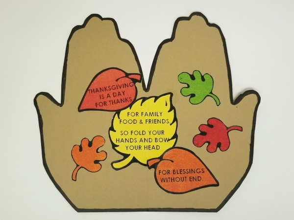 Handprint Thanksgiving Poem