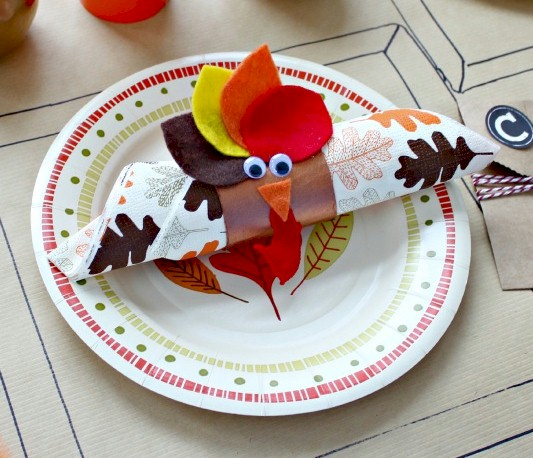 Image of Thanksgiving Turkey Napkin Holder