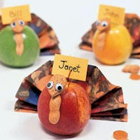 Thanksgiving Apple Placecards