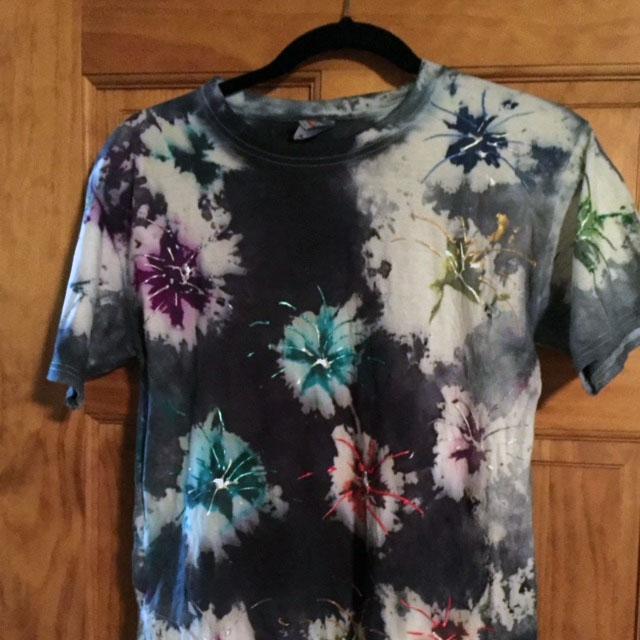 Fireworks Tie Dye Tee Shirt