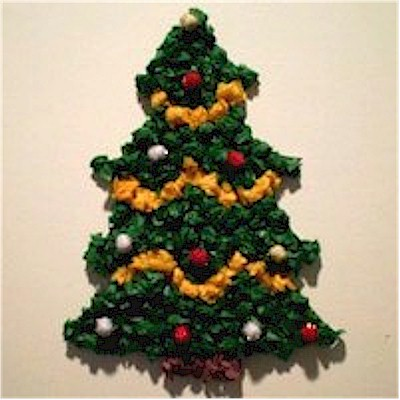 Tissue Paper Christmas Tree Decoration for Gifts