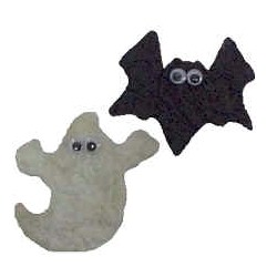 Image of Tissue Paper Halloween Magnets