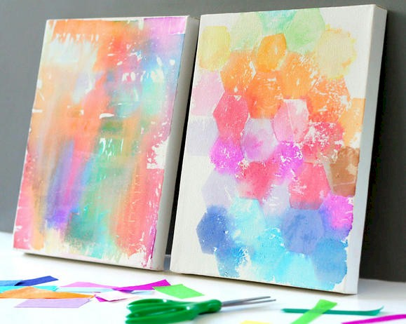 Image of Tissue Paper Painting Craft