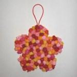 Image of Paper Plate Flower Basket