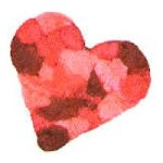 Image of Tissue Paper Stained Glass Hearts