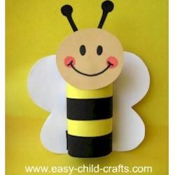 Image of Cardboard Tube Spring Bee