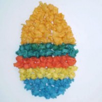Colorful Tissue Paper Easter Egg