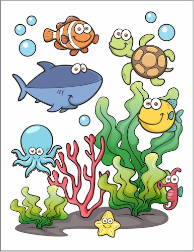 Image of Under The Sea Printable