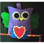 Sew a Valentine Felt Owl