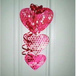 Bubble Wrap Valentine Mobile