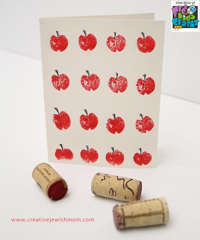 Image of Wine Cork Apple Print