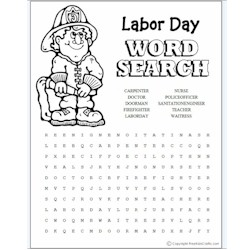 Image of Labor Day Word Search
